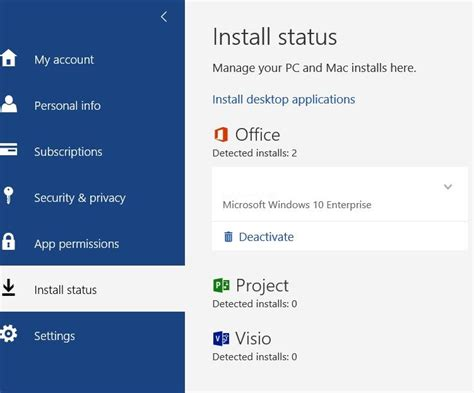 Office 365: Installing Microsoft Project and Visio from