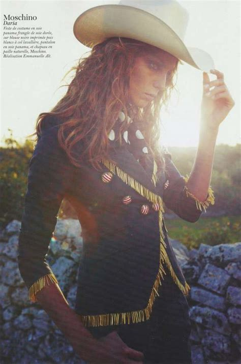 Cowgirl Couture Shoots : Daria Werbowy Vogue Paris