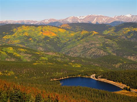 Echo Lake, Colorado | Panorama on our way (Mt Evans Rd) to