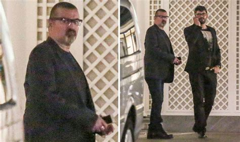 George Michael steps out for rare appearance with partner
