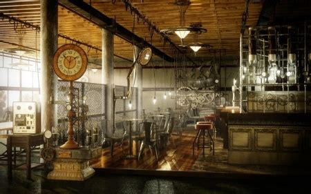 Steampunk Cafe - Fantasy & Abstract Background Wallpapers