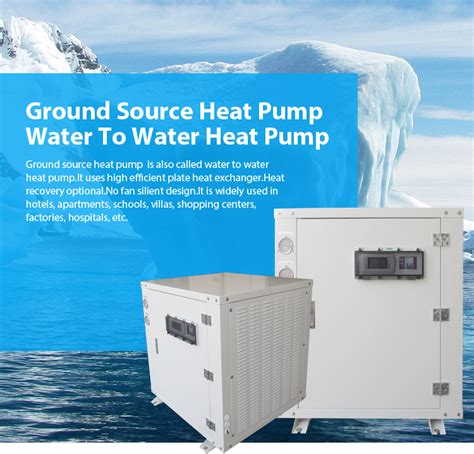 Geothermal Ground Source/water To Water Heat Pump For