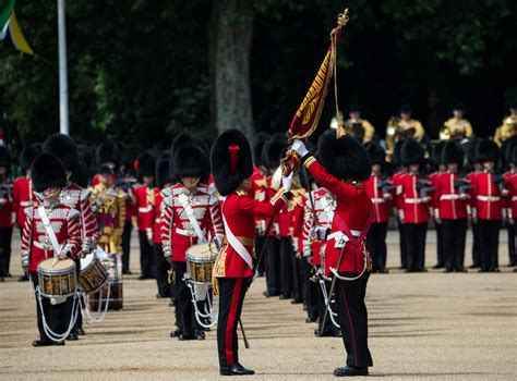 Coldstream Guards troop their colour   The British Army