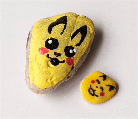 Pokemon Painted Rocks - Summer Kid Craft Project - Frog