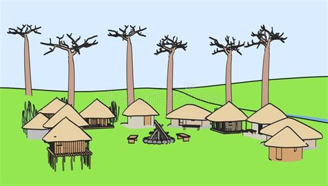 Image Of African Village Royalty Free Stock Photos - Image