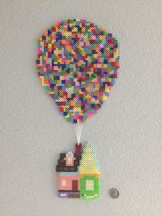 """""""Mini perler bead house from the movie Up"""
